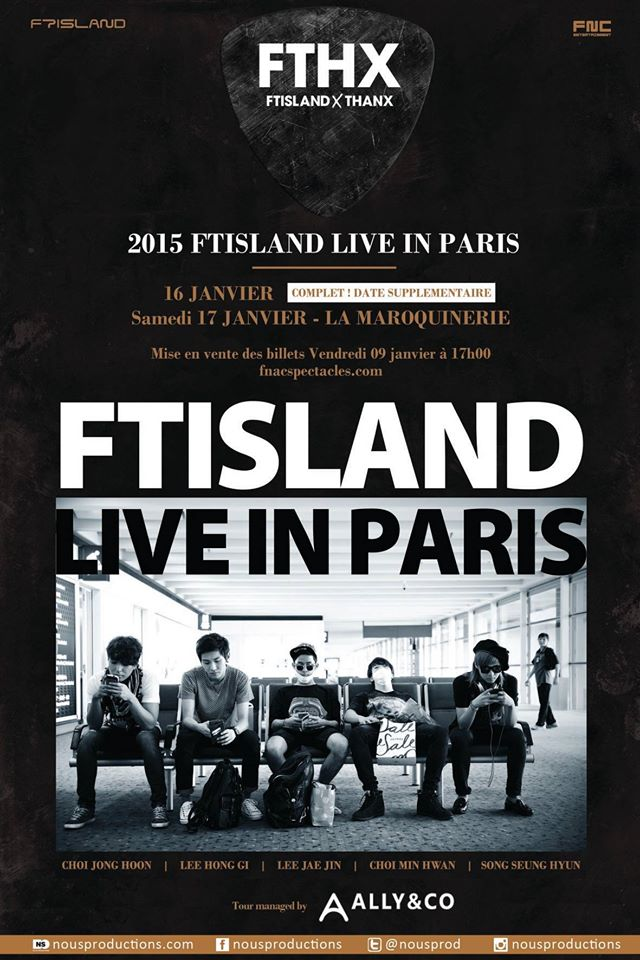 ftisland live in paris date supplementaire fthx