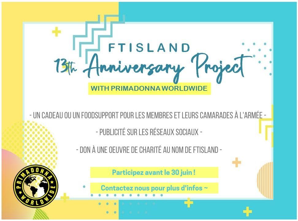 Projet 13 th anniversary primadonna worldwide français